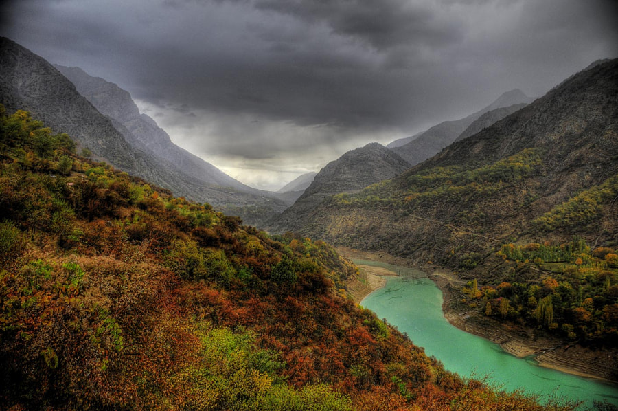 Psken river and clouds by Otabek Yuldashev on 500px.com