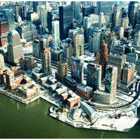 Manhattan in bird's-eye view