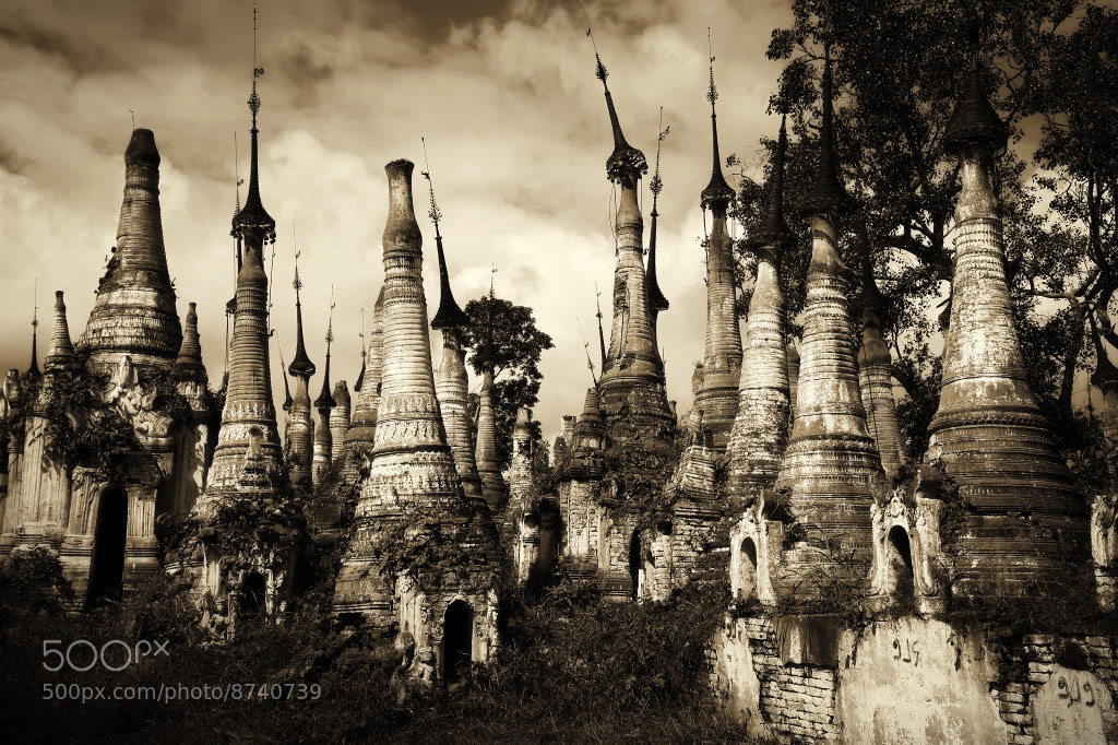 Photograph Inle Stupas, Burma by Gerald Gay on 500px