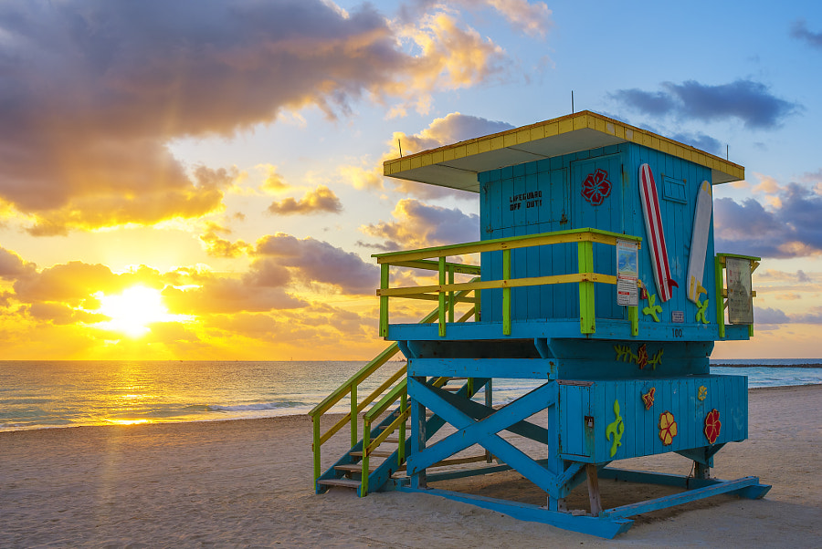Miami South Beach at sunrise by frederic prochasson on 500px.com
