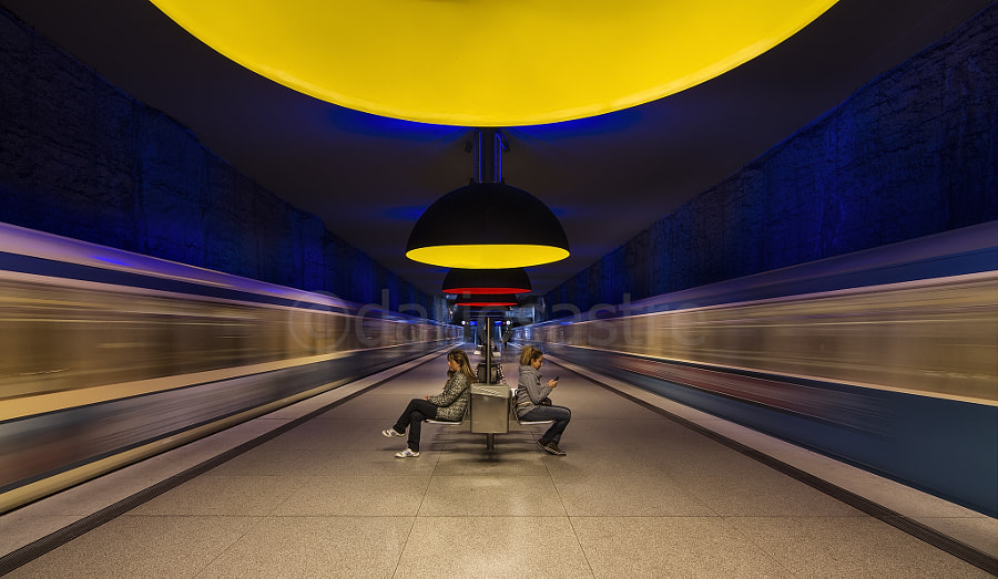 Photograph Munich Subway in Yelow by Darío Sastre on 500px