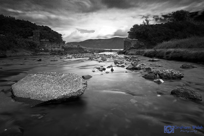 Photograph The Stream B&W by Graham Walsh on 500px