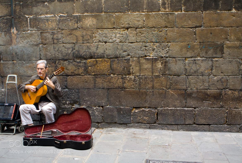 Photograph Street musician in Barri Gotic by Sriram V on 500px