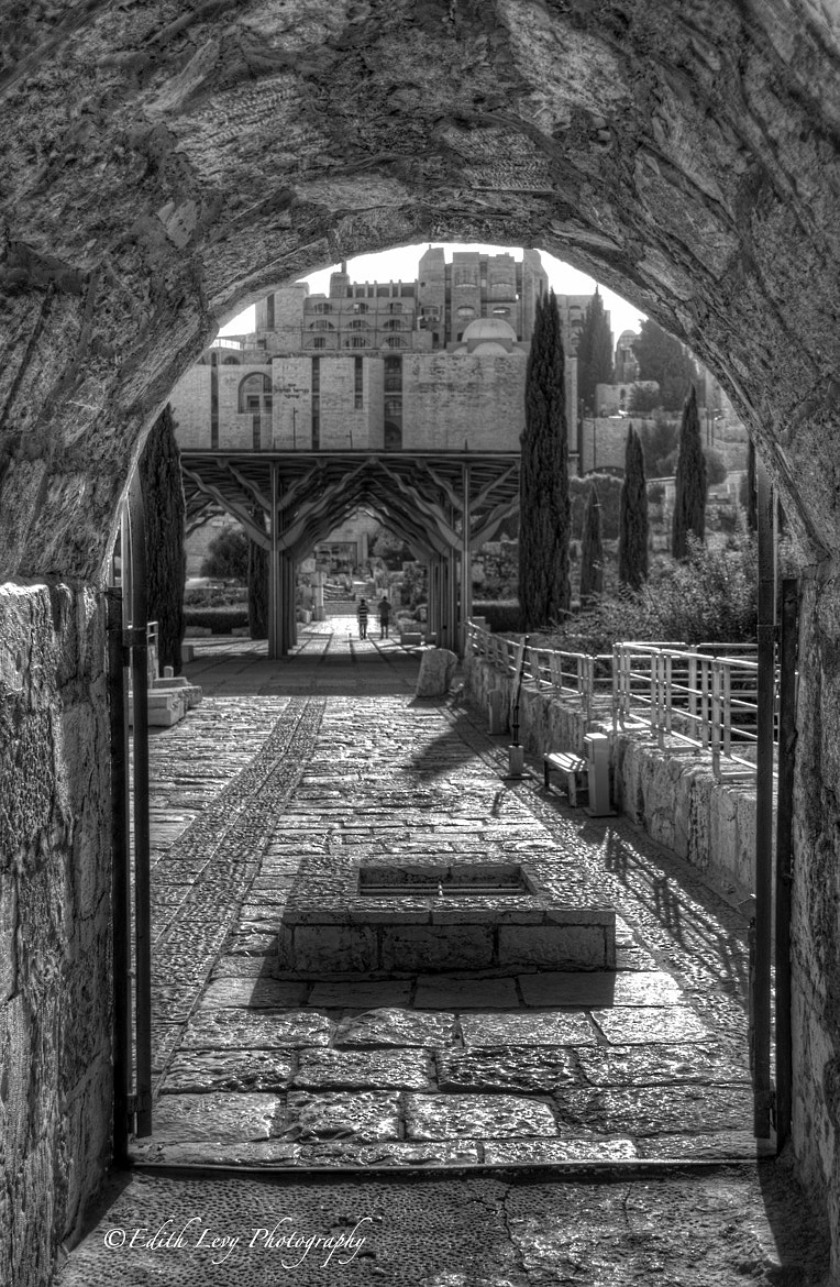 Photograph Robinson's Arch courtyard by Edith Levy on 500px