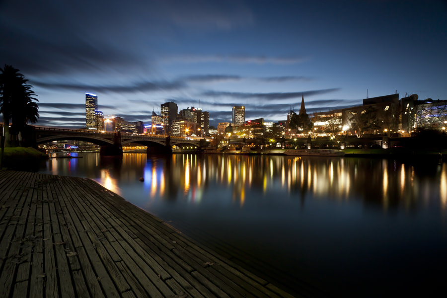 Photograph Dusk on the Yarra River by Michael Giese on 500px