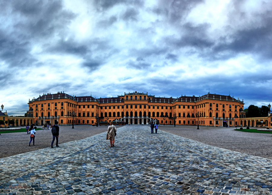 Shconbrunn Palace. Combination of four shots merged in Photoshop.