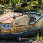 Постер, плакат: Bumper car in Pripyat Chernobyl