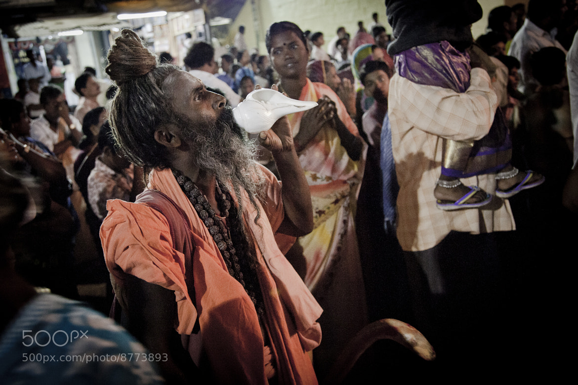 Photograph Sadhu and the conch by Olivier Heimana on 500px