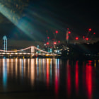 Постер, плакат: Chelsea Bridge as seen from Chelsea Embankment