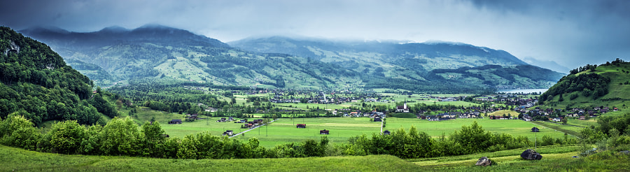 Swiss Views XI, a panorama