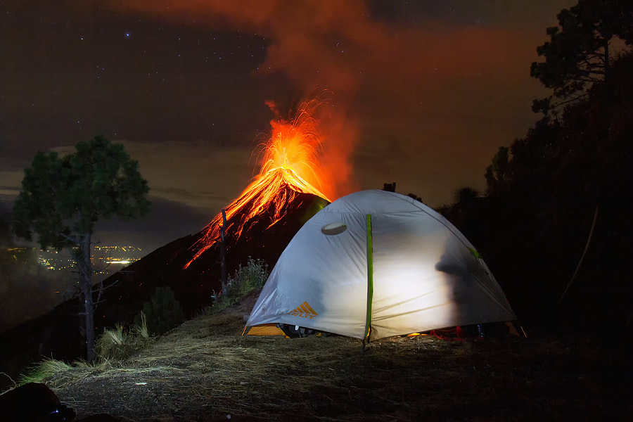 Photograph Volcano Fuego | Antigua, Guatemala by Matthias Huber on 500px