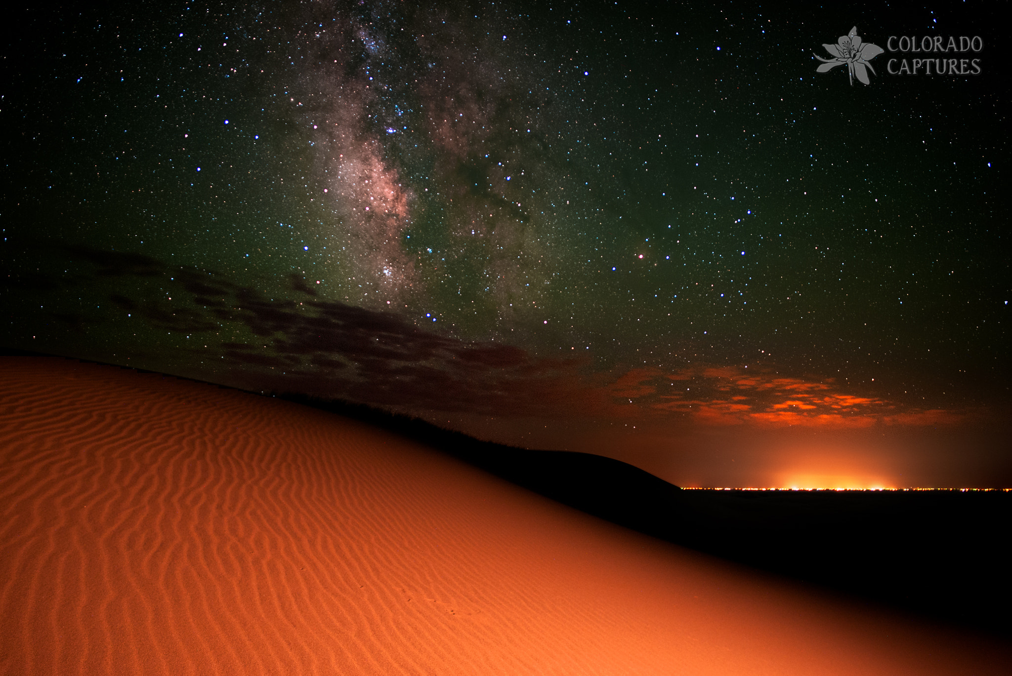 Photograph Milky Way Gold From Sand Dunes Colorado by Mike Berenson - Colorado Captures on 500px