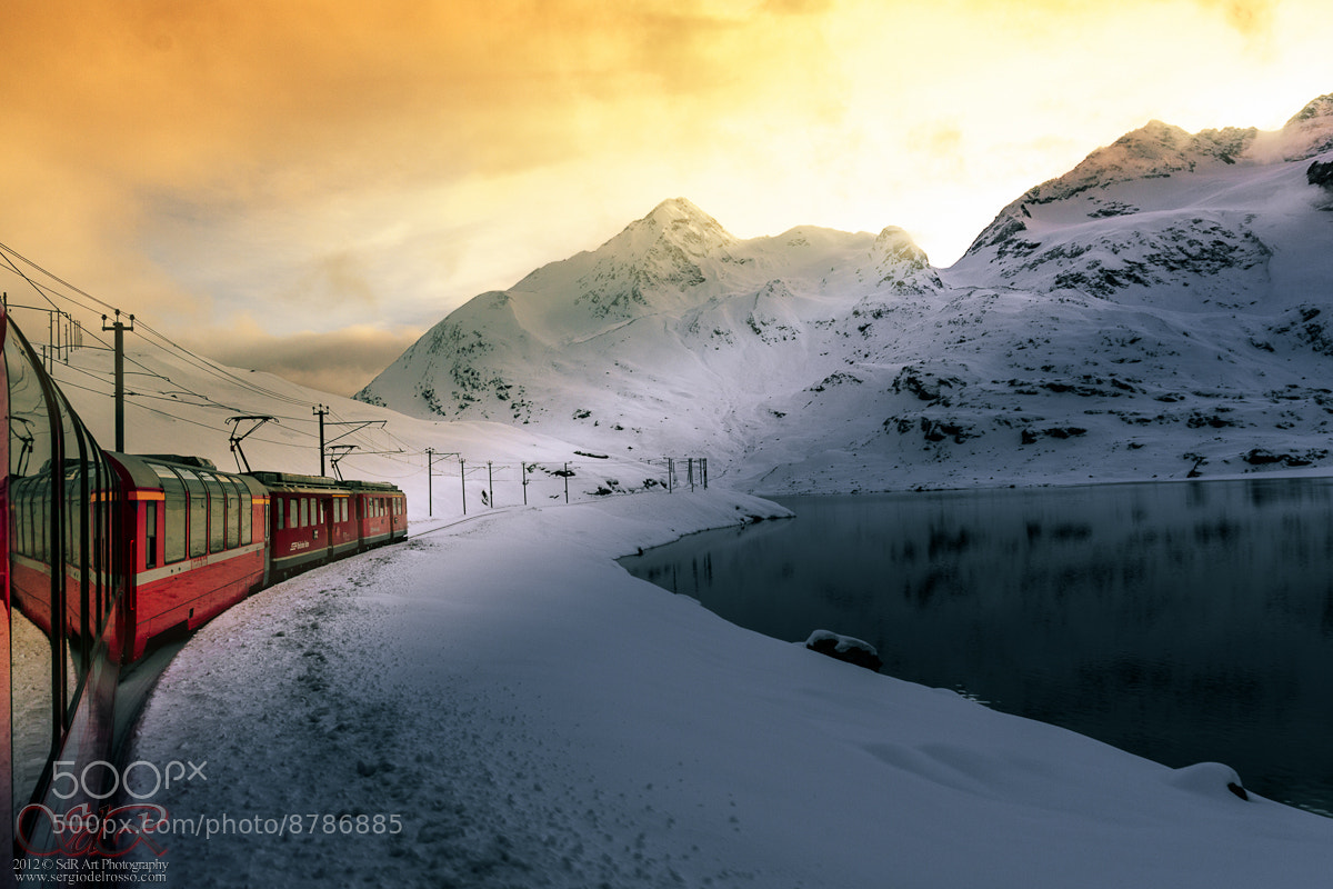 Photograph Bernina express sunset by Infinity Visions  on 500px