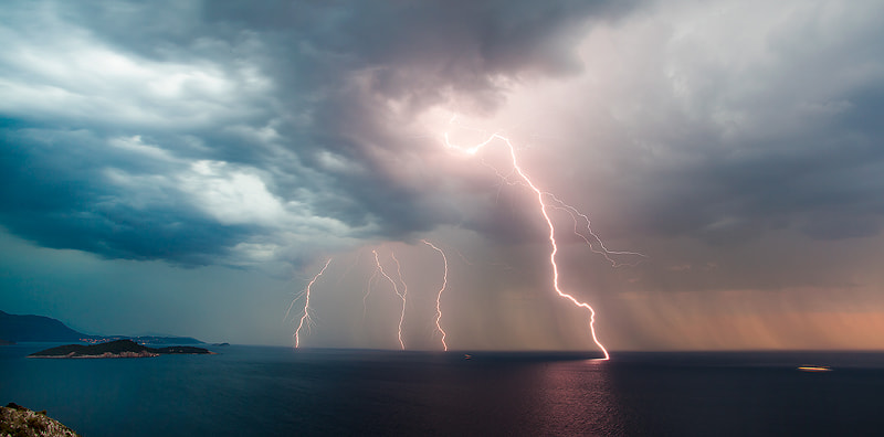 Photograph Thunderstorm in Dubrovnik coast by Boris Basic on 500px