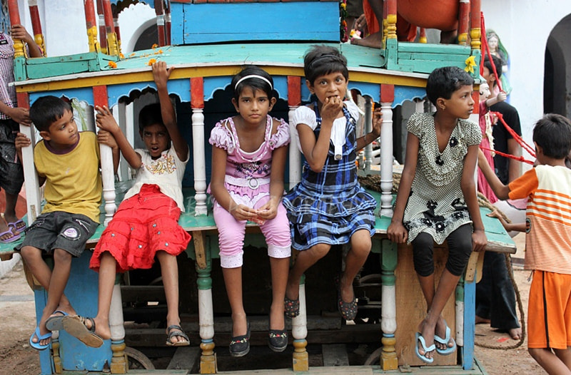 Photograph Kids Inside the Rath. by PRASUN BISWAS on 500px