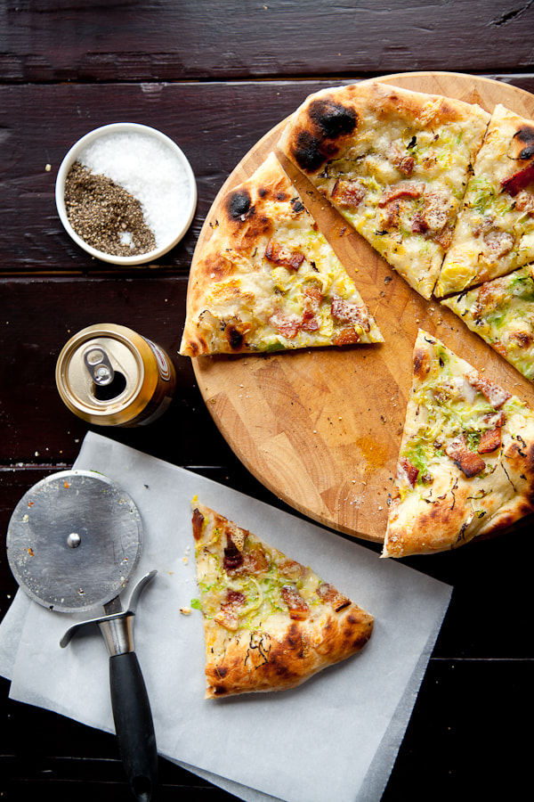 Photograph Pizza with Brussel Sprouts, Bacon Lardons and Fontina by Jonathan Gayman on 500px