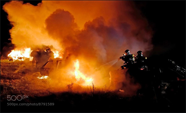 Photograph Pompiers au feu by Stéphane Bommert on 500px