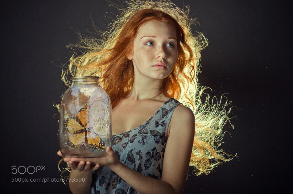 Photograph girl with butterfly by Olga Gabsattarova on 500px