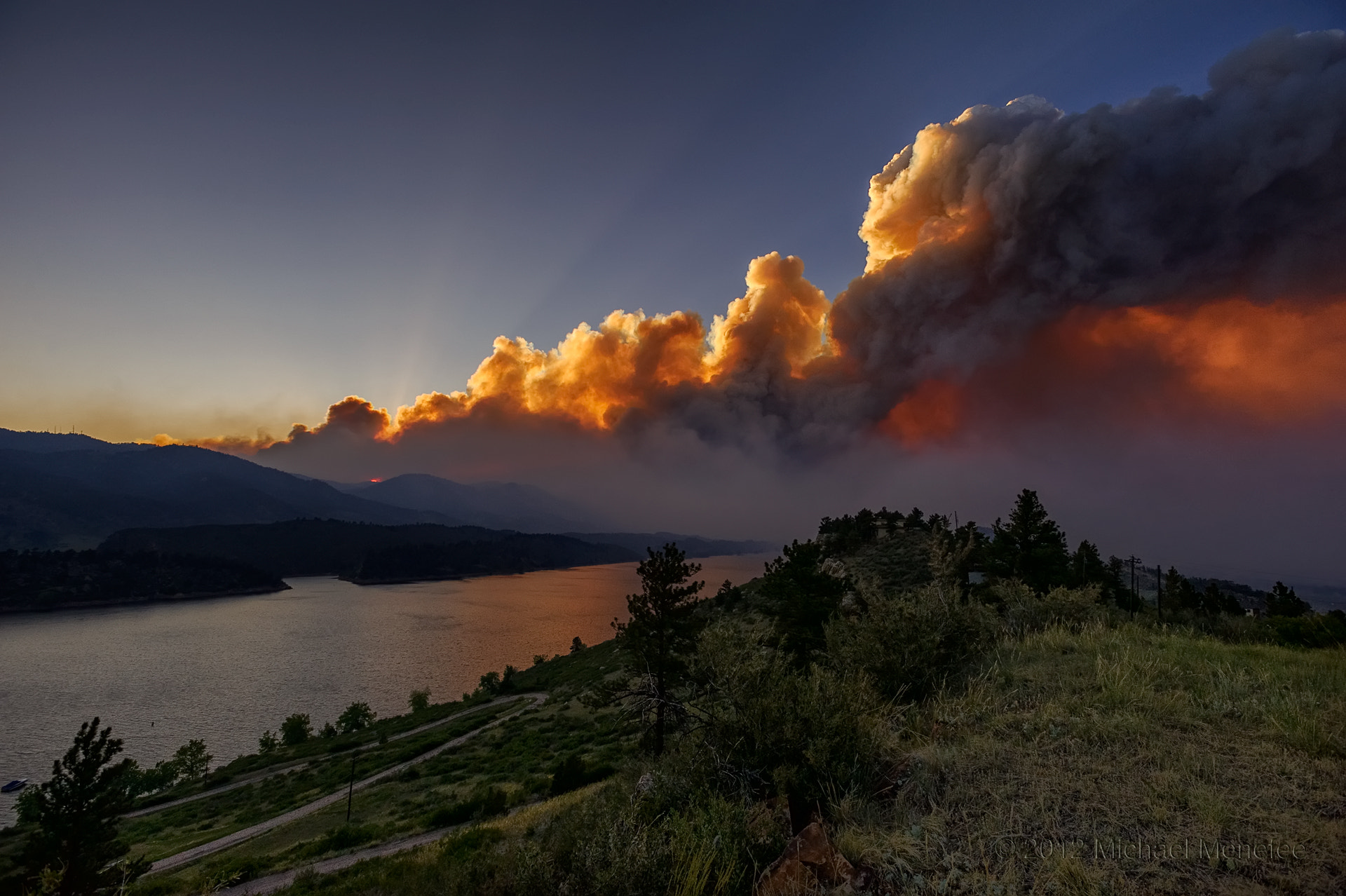 Photograph Explosive Destruction of the High Park Fire: June 10th, 2012 by Michael Menefee on 500px