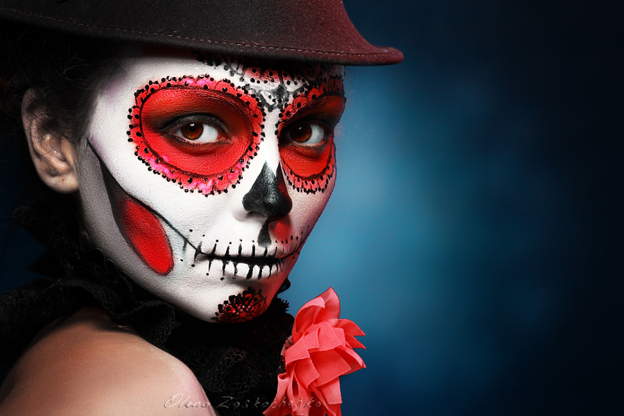 halloween make up sugar skull by Olena Zaskochenko on 500px.com