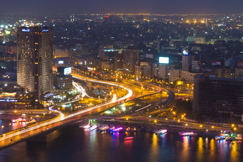 Photograph Night traffic in Cairo by Victor Shevchenko on 500px