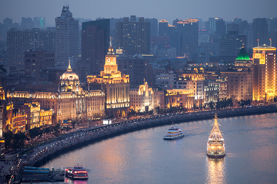 Photograph Shanghai Bund at Night #1 by Kip Cole on 500px