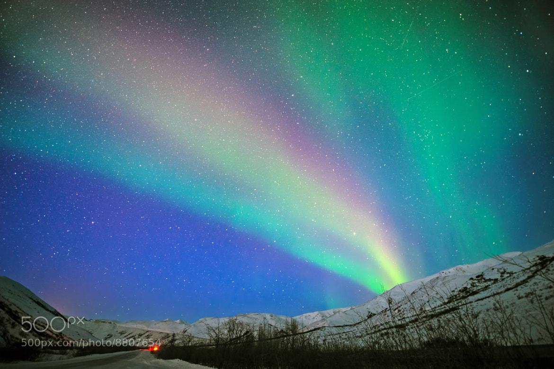 Photograph Rainbow Lights in Wonderful Starry Night by Noppawat Charoensinphon on 500px