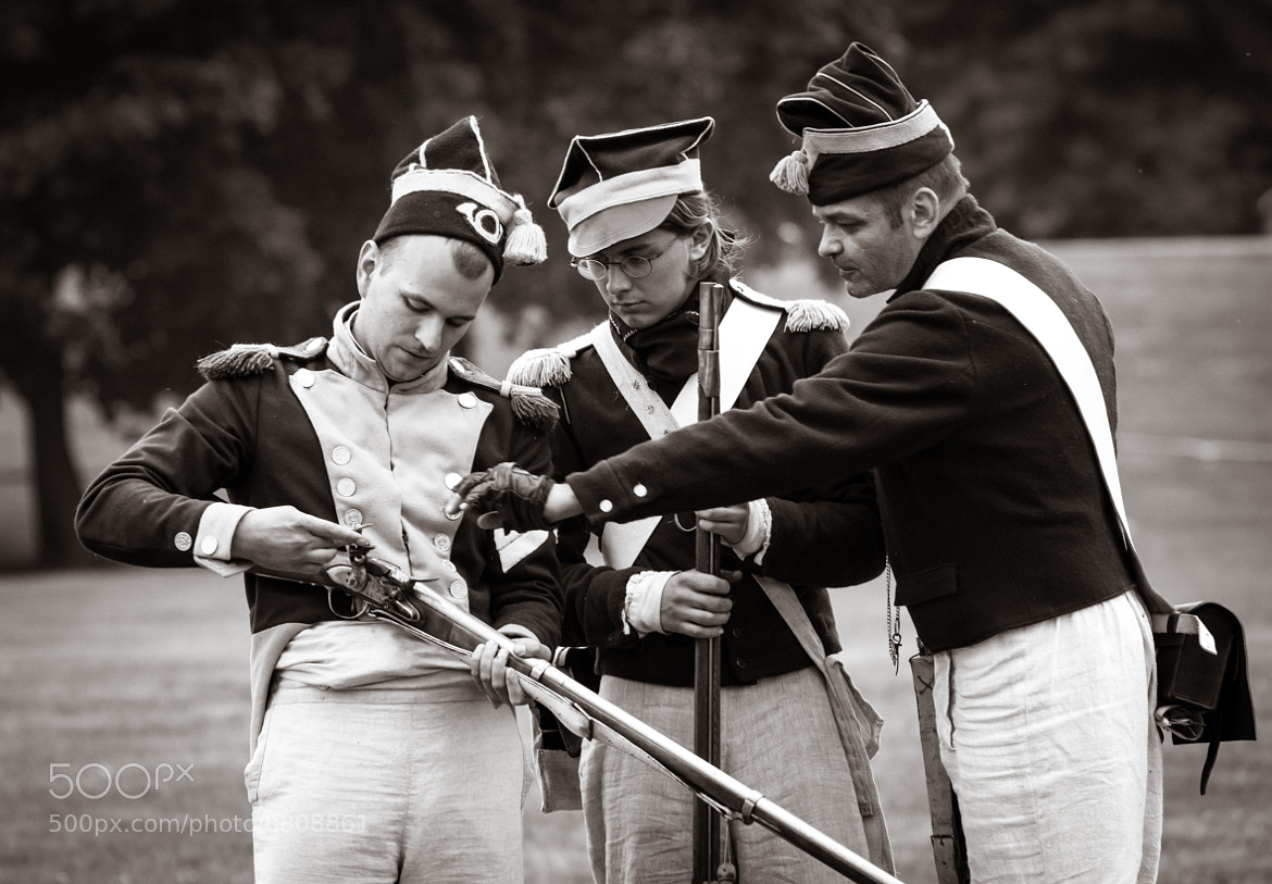 Photograph Soldiers from Napoleonic Wars firing a valley by Raimundas on 500px