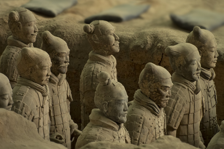 Photograph Soldiers of the Terracotta Army by Lucie Gagnon on 500px