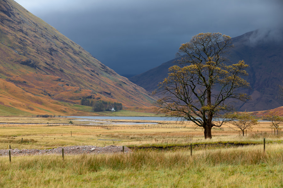 A rainy day in Glencoe brighten the colors well.
