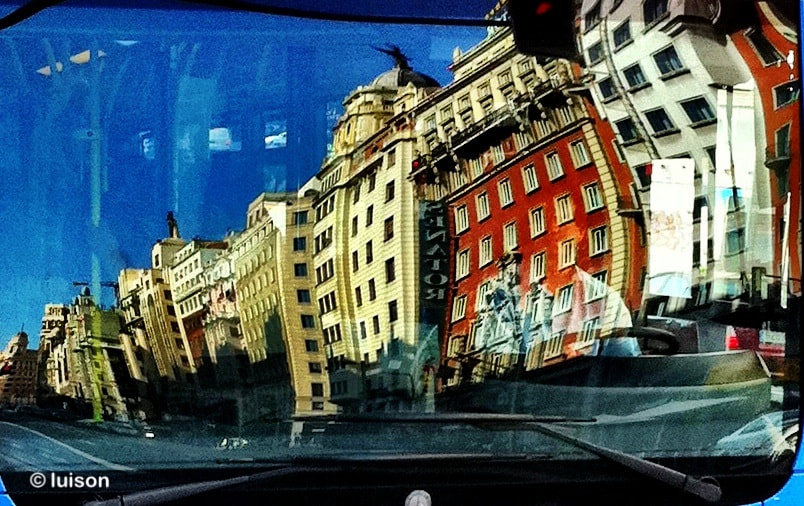 Photograph Madrid reflected on a bus (X) by Luis Rodriguez on 500px