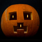 Постер, плакат: Minecraft Creeper Face Pumpkin