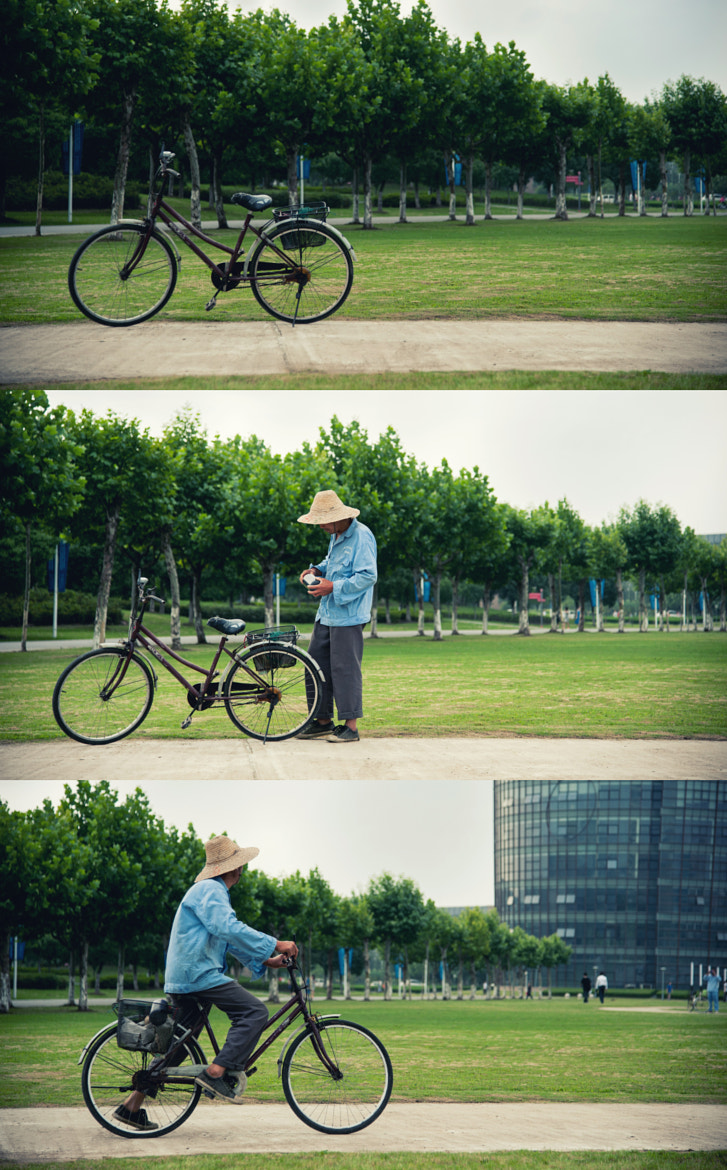 Photograph Bike and It's Old Owner by Shaoyi Zhang on 500px