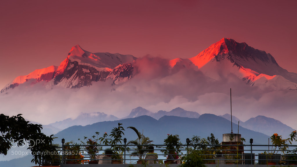 Photograph Annapurna Fire by Dylan Toh  & Marianne Lim on 500px