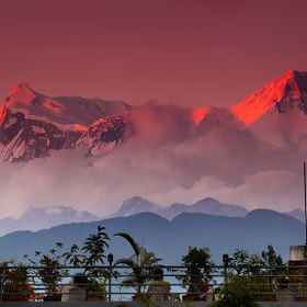 Annapurna Fire by Dylan Toh  & Marianne Lim (everlookphotography)) on 500px.com