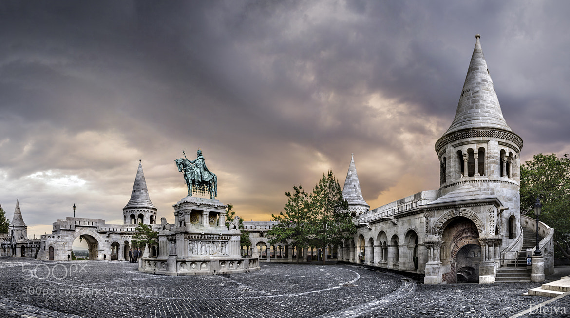 Photograph Fisherman's Bastion and statue of Stephen at dusk by Domingo Leiva on 500px