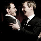 Постер, плакат: Michael Fassbender and Benedict Cumberbatch