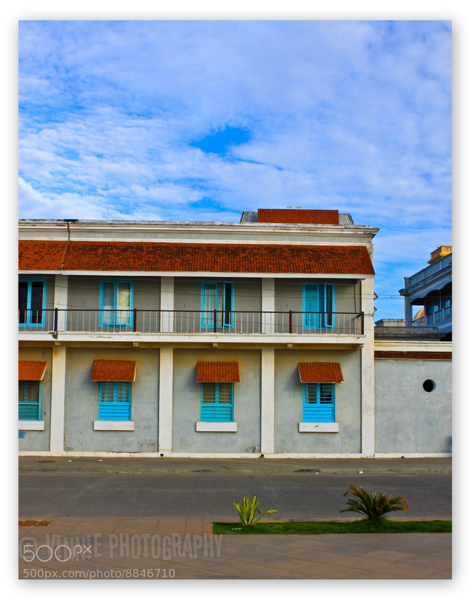 Photograph The Colorful Houses at Pondicherry by Vinu Padmanabhan on 500px