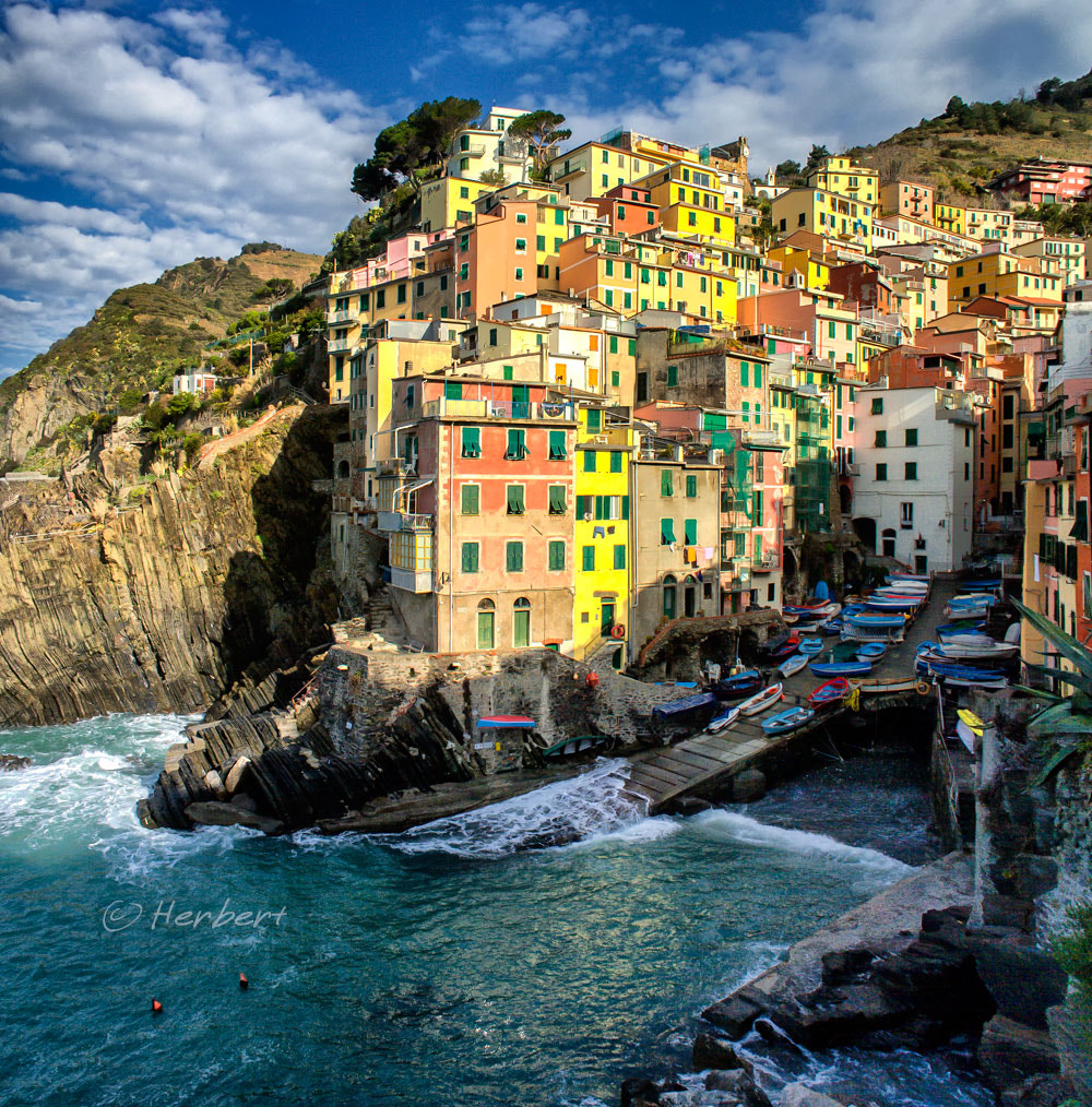 Photograph Riomaggiore harbour by Herbert Wong on 500px