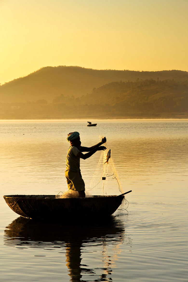 Photograph Golden hour Fishing by Sudarshan Hp on 500px