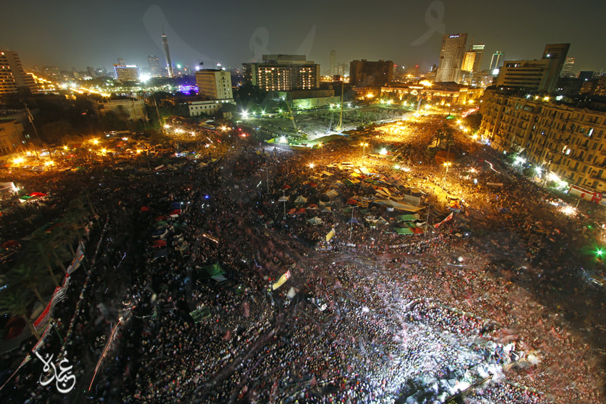 Photograph Tahrir Sq. Celebrating Second Republic by Mohamed  Abdo on 500px