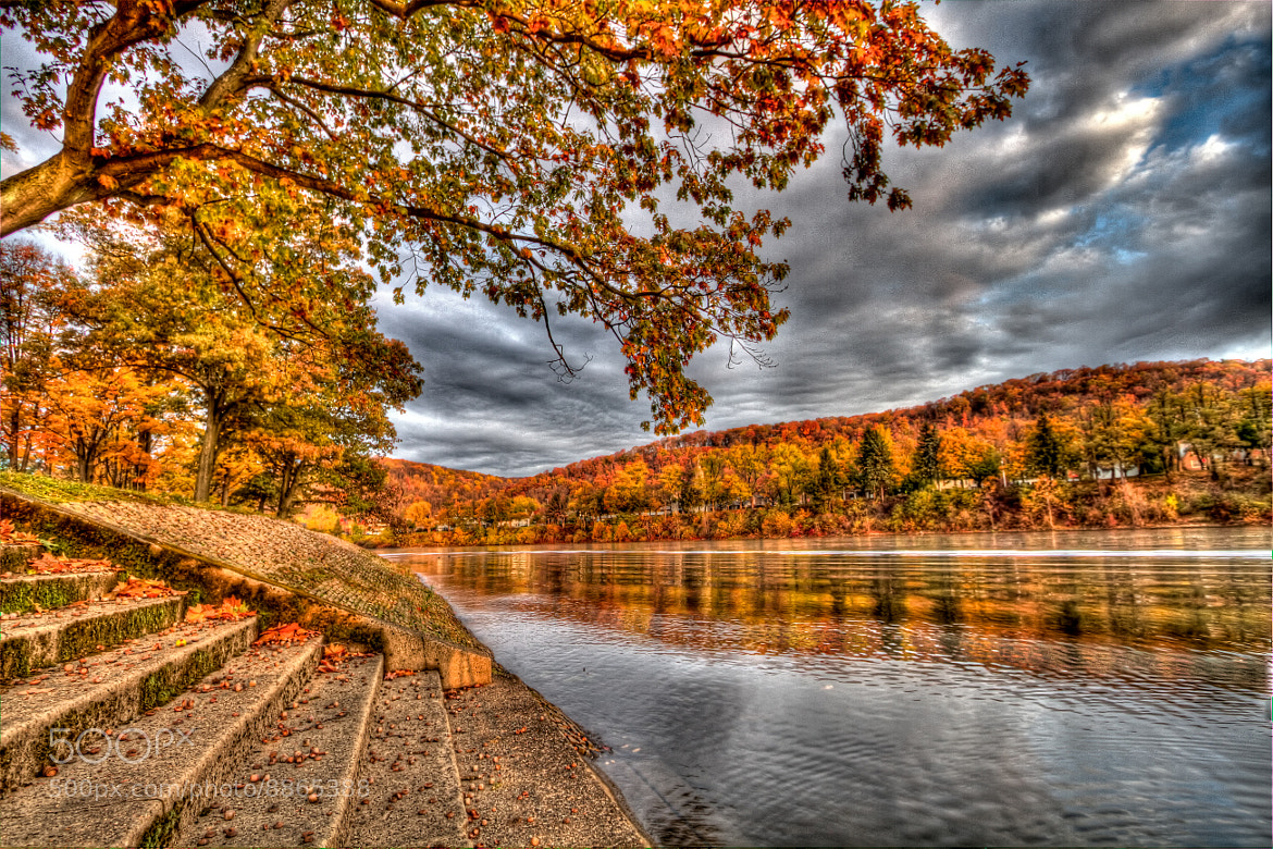 Photograph Fall Leaves by the River by John Carlson III on 500px