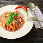 ������, ������: Plate of penne pasta with arrabiata sauce
