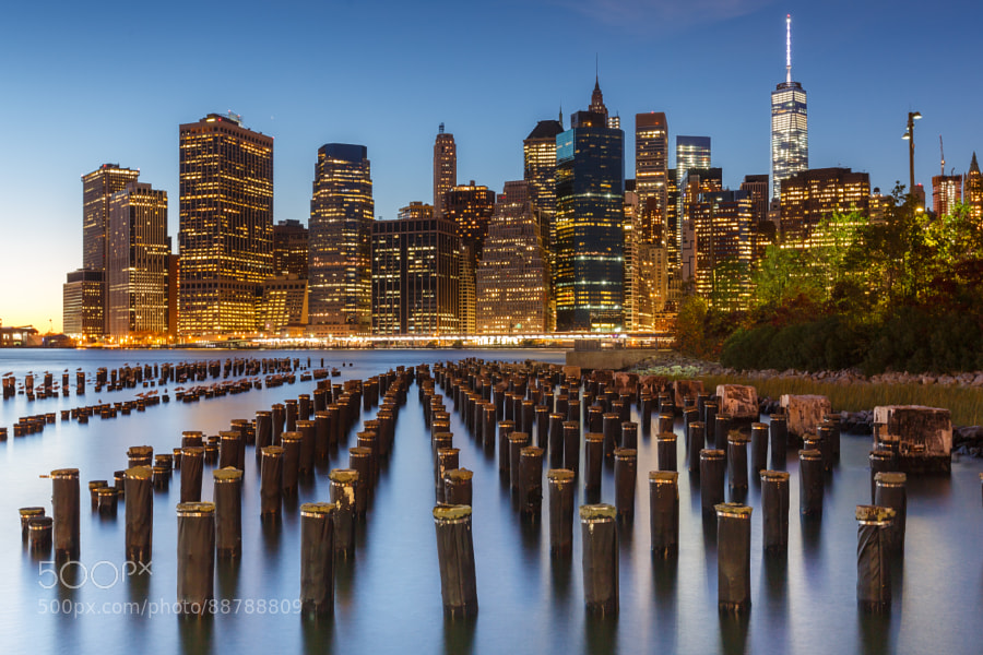 Lower Manathan Skyline from Brooklyn Heights