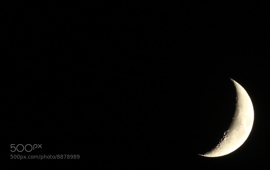 Photograph My first moon by Antonio M. on 500px