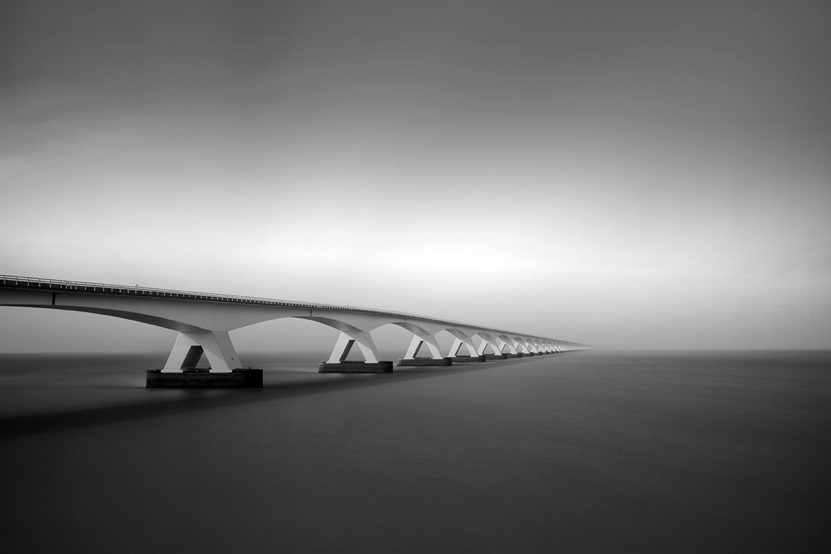 Photograph Bridge in the fog by Kees Smans on 500px