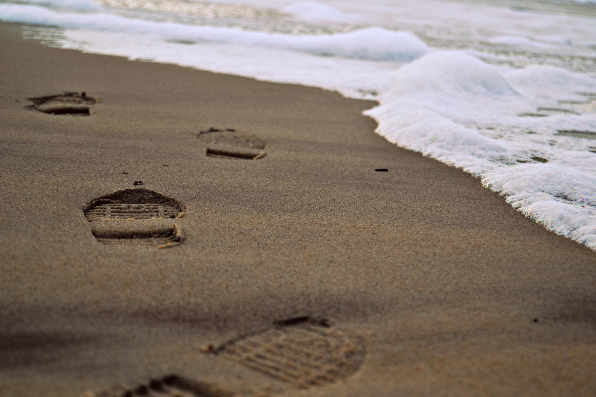 Photograph Footprints in the sand by Caroline  bp on 500px
