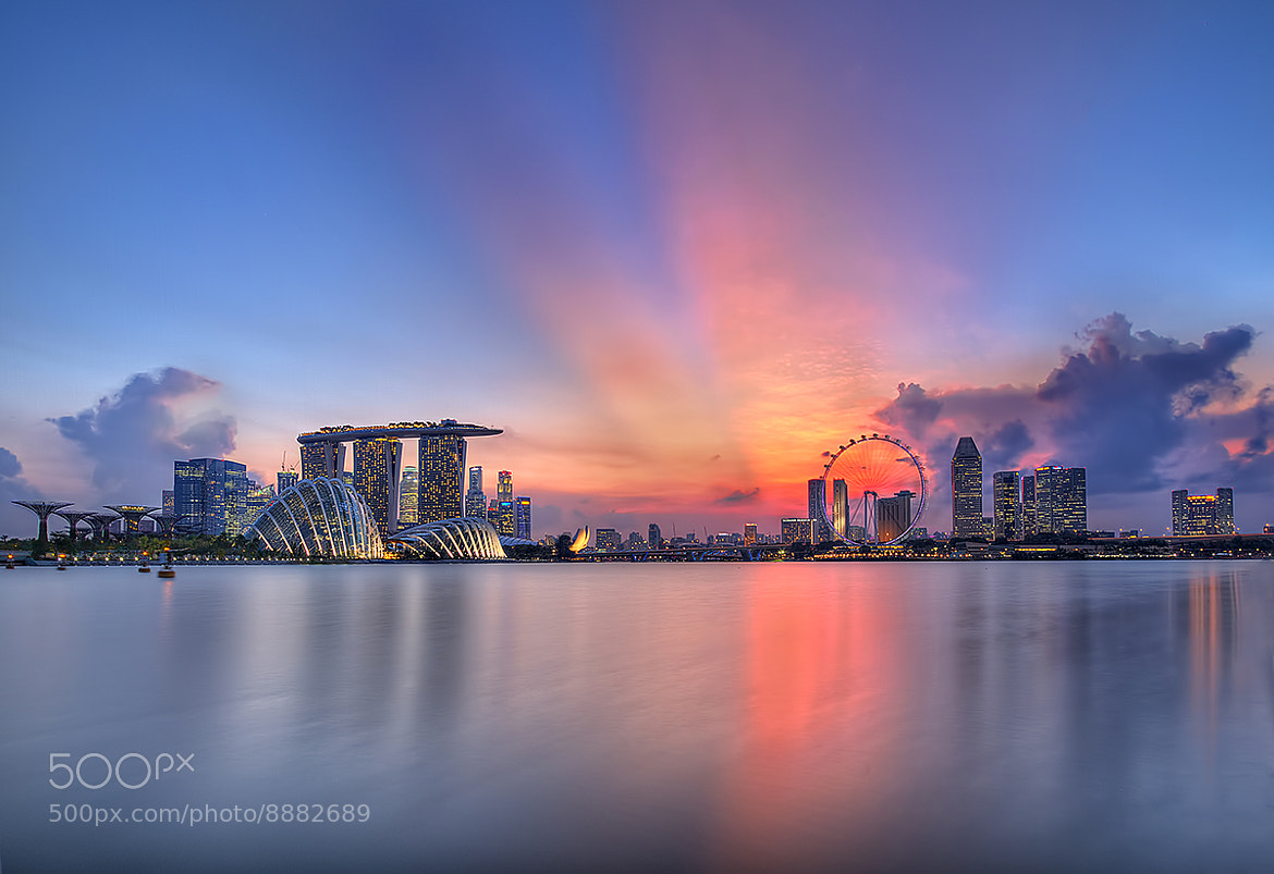 Photograph Sunset @ Marina Bay by Partha Roy on 500px