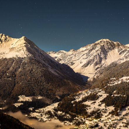 Moonlight over Val d'Anniviers...
