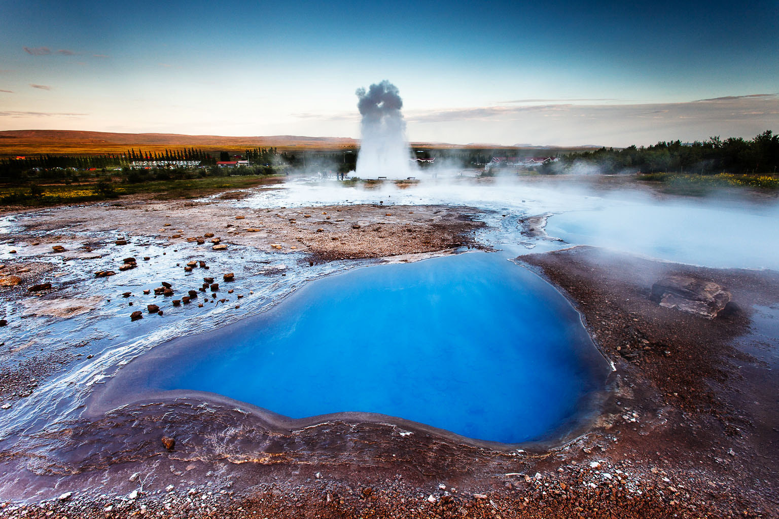 Photograph At Geysir, Geothormal site, ICELAND by Páll Guðjónsson on 500px